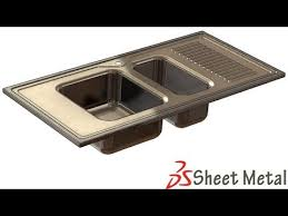 SolidWorks Sh Tutorial   Sheet Metal Kitchen Sink Form Tool - Metal kitchen sink