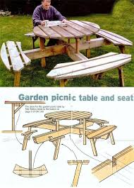 Woodworking Plans For Picnic Tables by 356 Best Outdoor Deck Tables Images On Pinterest Wood Projects