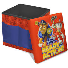 Ottoman Red by Nickelodeon Paw Patrol Sit And Store Folding Ottoman Walmart Com