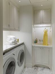 Laundry Cabinet With Hanging Rod San Francisco Laundry Sink Cabinet Room Traditional With Counter