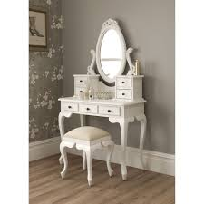 Antique White Bedroom Vanity Table Amusing Bedroom Vanity With Models Mirror Oval Pinterest