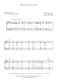 the coventry carol sheetmusic2print com