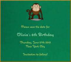 save the date birthday cards card invitation design ideas green kids birthday party save the