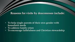deaconess responsibilities ministerial association ppt download