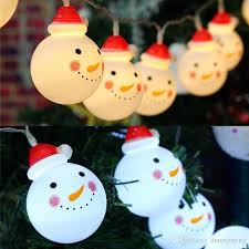 decoration snowman designed led strings lights