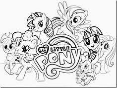 coloriage my little poney 6 dessin à imprimer coloriage