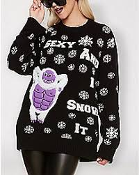 funny ugly christmas sweaters ugly christmas t shirts spencer u0027s