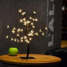 2x 48led 1 5ft cherry blossom table lamp decorative flexible tree