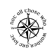 jeep life decal not all those who wander are lost lotr compass vinyl sticker car