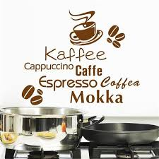 k che diy shop kaffee restaurant schaufenster küche wandaufkleber 3d