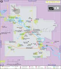 road map of iowa usa waterloo map map of waterloo city iowa