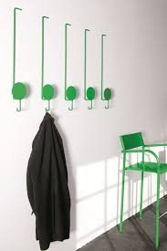 coat hook wall mounted with coolest green that matched the color