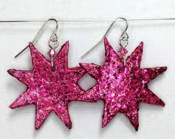 jemstar earrings jem earrings etsy