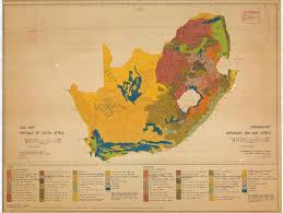 Map South Africa Grondkaart Republiek Van Suid Afrika Soil Map Republic Of