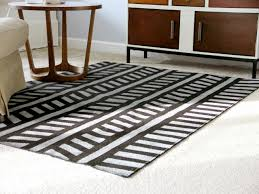 Rug To Carpet Tape How To Paint A Design On A Low Pile Rug How Tos Diy