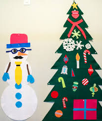 a kailo chic life craft it felt snowman and tree activity