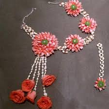flower necklace set images Graceful floral jewelry set gift a set of floral necklace and jpg