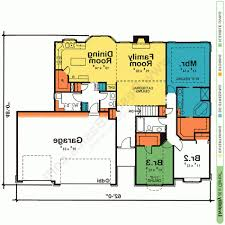 design one story house plans with open floor plans design basics