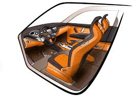 seat tribu concept interior sketch orange black grey custom could