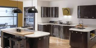 Gray Painted Kitchen Cabinets Simple Modular Kitchen With L Shape Come With White Orange Colors