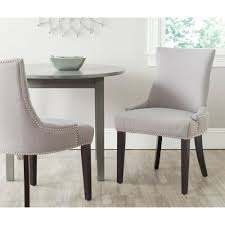 Dining Chairs Sets Side And Arm Chairs Safavieh Becca Grey And Bone Linen Blend Dining Chair Mcr4502h