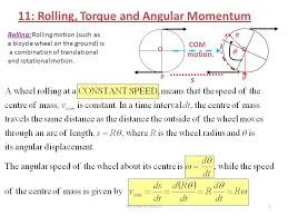 chapter 11 rolling torque and angular momentum ppt