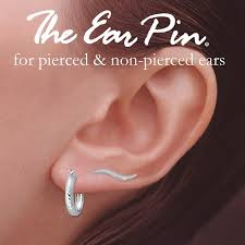 ear hoop ear pin earrings with hoop earrings