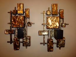 unique gold square candle sconces for home lighting ideas house