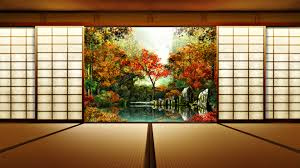 Japanese Traditional House Floor Plan by Japan Nature Autumn Gardens 1920x1080