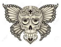 butterfly with skull images for tatouage