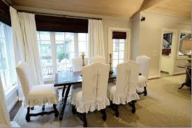 White Slipcover Dining Chair Dining Room Chair Covers With Arms Interior Design