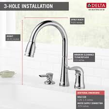 16970 sd dst single handle pull down kitchen faucet with soap