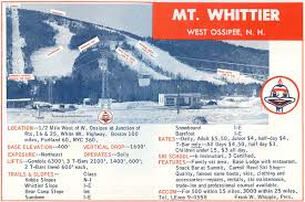 Portland Trails Map by 1964 65 Mt Whittier Trail Map New England Ski Map Database