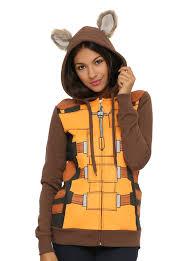 raccoon costume spirit halloween marvel guardians of the galaxy rocket raccoon girls hoodie topic