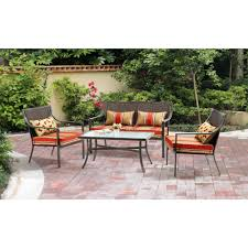 Wrought Iron Patio Furniture Cushions by Patio 4 Piece Patio Set Home Designs Ideas