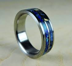 mens blue wedding bands wedding band for men mens titanium ring wooden wedding band
