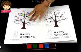 wedding guest book pages thick cover wedding guest book fingerprint tree guest book