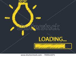 loading bar graph bulb creativity big stock vector 700541071