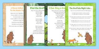 the gruffalo julia donaldson literacy early years page 1