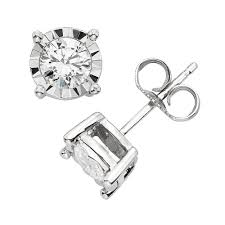 white gold earrings 2 carat t w diamond 10k white gold stud earrings