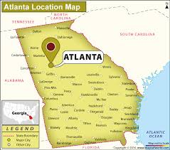 us map with atlanta where is atlanta located in usa