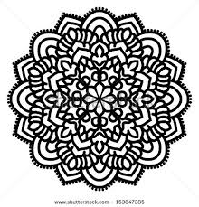 mandala for painting vector circle ornament design element