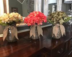 Mason Jar Floral Centerpieces Mason Jar Hydrangea Etsy