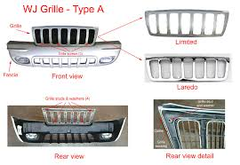 difference between jeep grand laredo and limited jeep grand wj grille and fascia removal