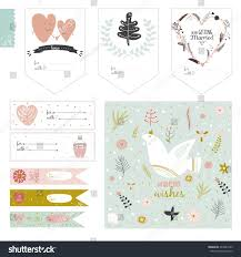 romantic love cards notes stickers labels stock vector 249487255