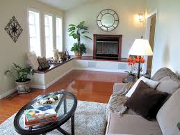 furniture arrangement for decorating a long living room or family