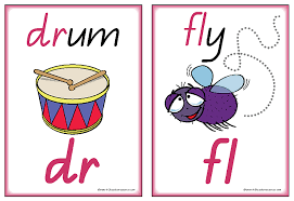 printable initial final consonant blends charts and words