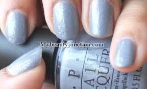 manicure o p i polka com glitter nail polish swatched over i don