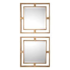 uttermost 09234 allick 18 x 18 inch gold mirror home decor square