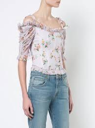 corset blouse brock collection floral print dropped shoulders corset blouse